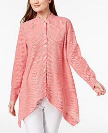 Anne Klein Cotton Asymmetrical Shirt