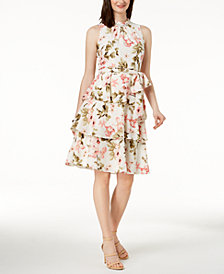 Jessica Howard Petite Printed Tiered Dress