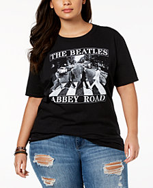 Hybrid Plus Size Cotton Beatles Abbey Road T-Shirt
