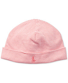 Ralph Lauren Striped Cotton Hat, Baby Girls
