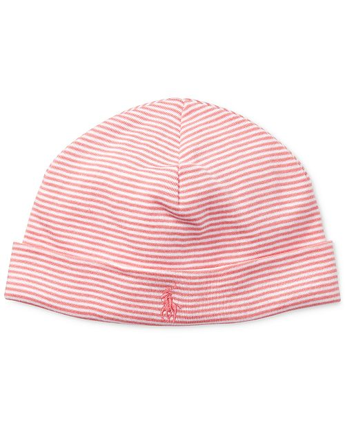 46c81f32 Ralph Lauren Baby Girls Striped Cotton Hat