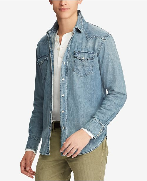e65548755d Polo Ralph Lauren Men s Classic Fit Denim Shirt   Reviews - Casual ...