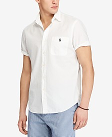 Polo Ralph Lauren Men's Classic Fit Short Sleeve Seersucker Shirt