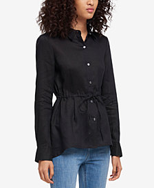 DKNY Linen Button-Up Jacket, Created for Macy's