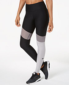 Nike Power Colorblocked Workout Leggings