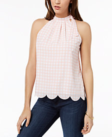 Maison Jules Scalloped-Hem Top, Created for Macy's