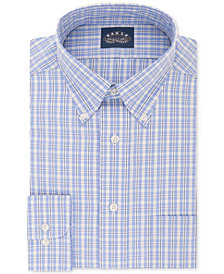 Eagle Men's Classic/Regular Fit Non-Iron Flex Collar Blue & Yellow Check Dress Shirt
