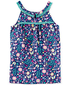 Carter's Fringe-Trim Floral-Print Top, Toddler Girls