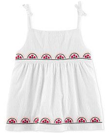 Carter's Embroidered Tie-Shoulder Tank Top, Toddler Girls