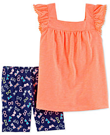 Carter's 2-Pc. Top & Tumbling Shorts Set, Little & Big Girls