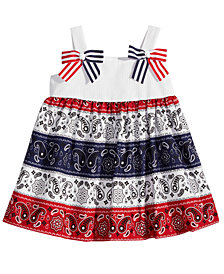 Bonnie Baby Red, White & Blue Bandana Dress, Baby Girls