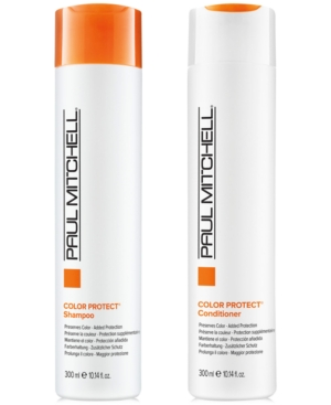 Image of Paul Mitchell Color Protect Shampoo & Conditioner (Two Items), 10.14-oz, from Purebeauty Salon & Spa