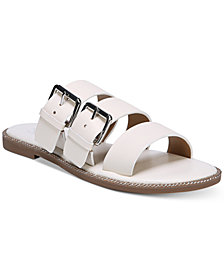 Franco Sarto Kasa Strappy Slip-On Flat Sandals