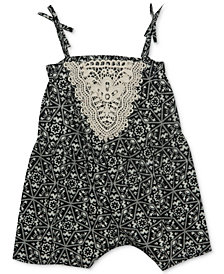 Rare Editions Printed Romper, Baby Girls