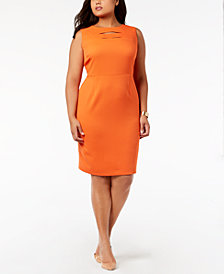 Kasper Plus Size Cutout Sheath Dress
