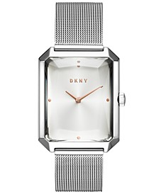 Women's Cityspire Stainless Steel Mesh Bracelet Watch 27x34mm, Created for Macy's