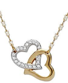 Swarovski Pendant, Interlocking Crystal Hearts