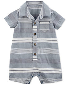 Carter's Baby Boys Striped Polo Cotton Romper