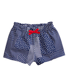 First Impressions Printed Cotton Shorts, Baby Girls, Created for Macy's