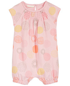 First Impressions Baby Girls Geometric Dot-Print Cotton Romper, Created for Macy's