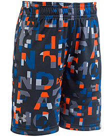 Under Armour Printed Reversible Shorts, Little Boys