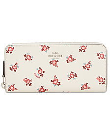 COACH Slim Accordion Zip Wallet in Floral Bloom