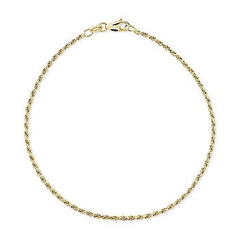 Giani Bernini Twist Rope Ankle Bracelet in 18k Gold-Plated Sterling Silver