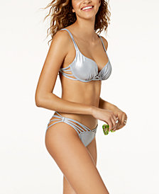 SUNDAZED Harper Bra-Sized Underwire Strappy Bikini Top & Cheeky Bikini Bottoms, Created for Macy's