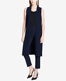 Calvin Klein Sheer-Knit Duster Vest
