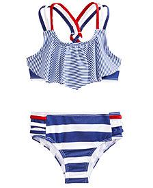 Penelope Mack 2-Pc. Striped Bikini, Little Girls