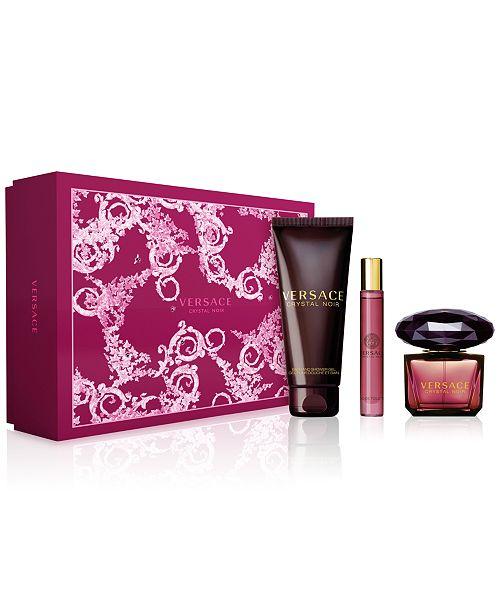 Versace 3-Pc. Crystal Noir Gift Set   Reviews - All Perfume - Beauty ... 3dfa10da1f13c