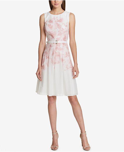 9a04745b Tommy Hilfiger Printed A-Line Dress & Reviews - Dresses - Women ...