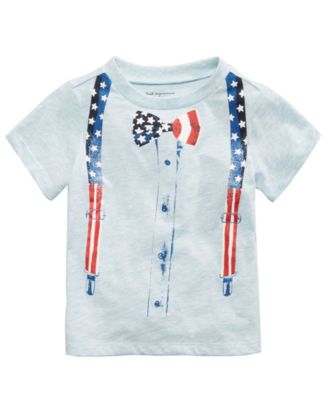 Bow Tie-Print T-Shirt, Baby Boys, Created for Macy's