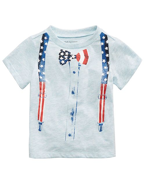 c72a0d4eb7bc First Impressions Bow Tie-Print T-Shirt, Baby Boys, Created for Macy's ...