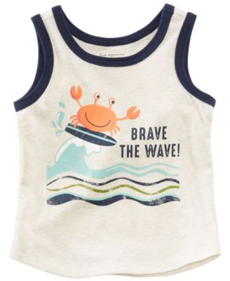 Wave-Print Tank Top, Baby Boys, Created for Macy's