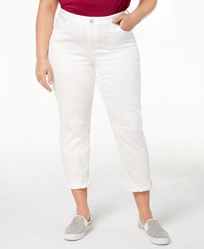 Celebrity Pink Plus Size Boyfriend-Fit Ankle Jeans
