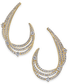 Danori Crystal & Pavé Swirl Drop Earrings, Created for Macy's