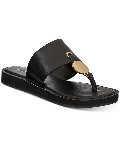 ca5225675ab ALDO Yilania Coin Slide Sandals   Reviews - Sandals   Flip Flops ...