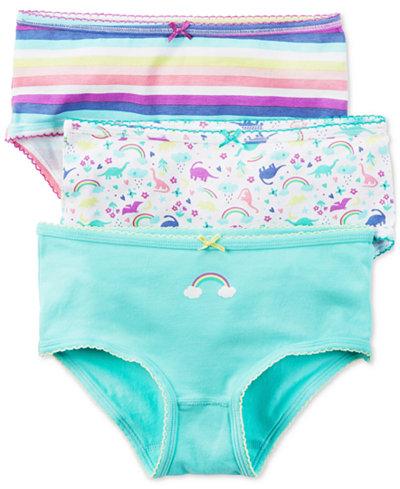 Carter's 3-Pk. Rainbow Panties, Little & Big Girls