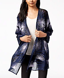 Alfani Embroidered Kimono, Created for Macy's