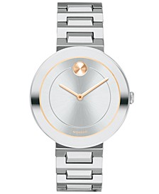 Women's Swiss BOLD Stainless Steel Bracelet Watch 34mm