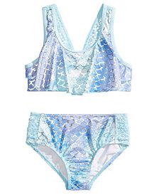 Penelope Mack 2-Pc. Mermaid-Print Bikini, Little Girls