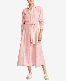 Polo Ralph Lauren Striped Linen Shirtdress