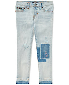 Polo Ralph Lauren Distressed Skinny Jeans, Big Girls