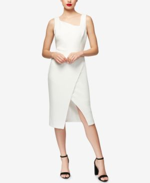 ASYMMETRIC CROSSOVER DRESS