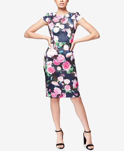 Betsey Johnson Floral-Print Sheath Dress
