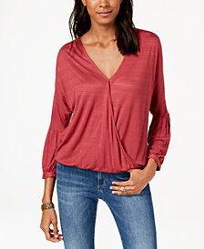 Lucky Brand Wrap-Front Top