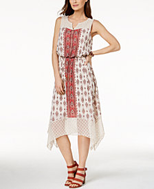 Style & Co Lace-Trim Midi Dress, Created for Macy's
