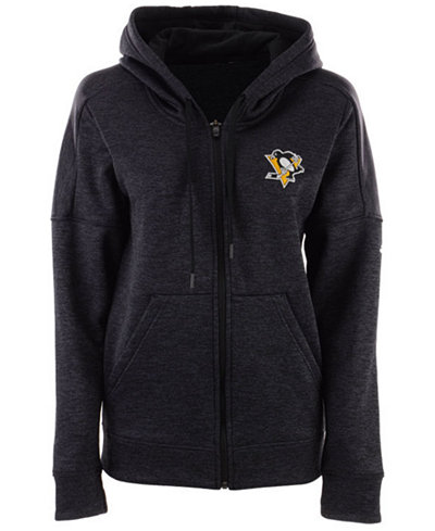 adidas Women's Pittsburgh Penguins Logo Stitched Full-Zip Hooded Sweatshirt