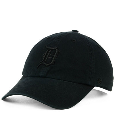 '47 Brand Detroit Tigers Black on Black CLEAN UP Cap